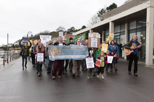 Anti fracking demo Jan 2016 a